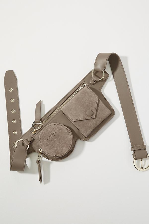 Liebeskind Alheid Leather Hip Bag - Grey