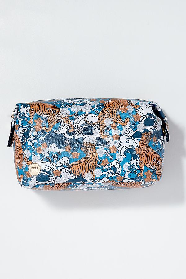 Tiger Cosmetic Bag - Blue
