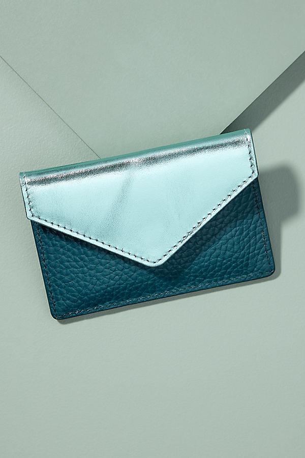 Nayra Leather Cardholder - Blue