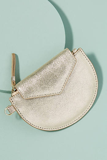 Half-Moon Leather Card Holder
