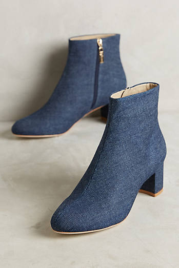 Guilhermina Denim Block Heel Boots