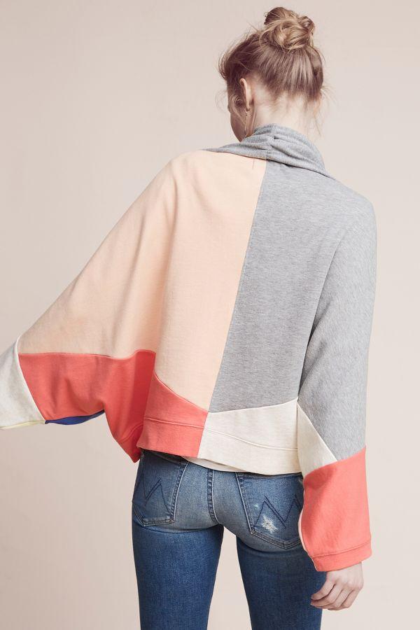 Saturday/Sunday Patchwork Sweatshirt Kimono