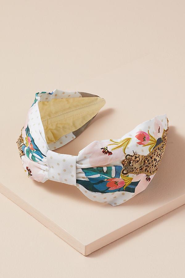 NamJosh Embellished Leopard Headband