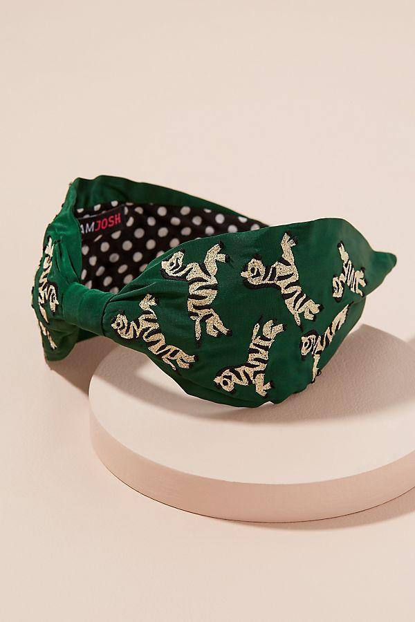 Zebra-Embroidered Headband  12327069c72