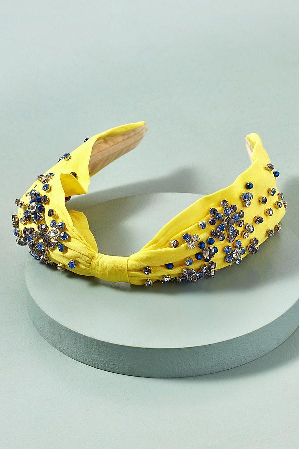 Slide View: 1: Crystal and Bead Embellished Headband