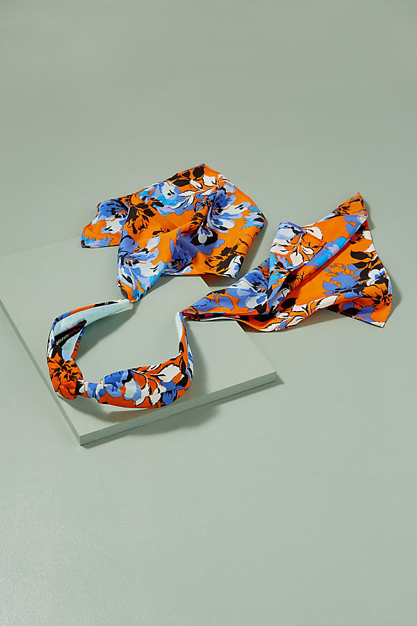 Darlene Headband - Orange Motif