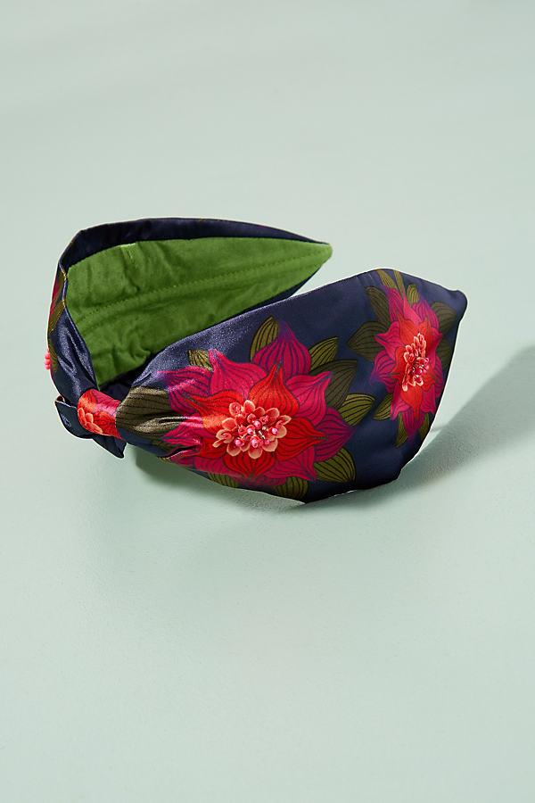 Trey Floral Satin Headband - Pink
