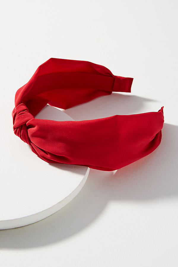 Georgia Knotted Headband - Bright Red