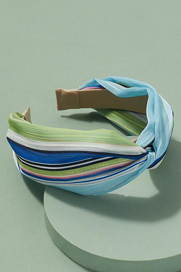 Haldis Striped Headband - Blue