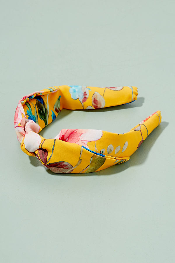 Emma Floral Headband - Yellow Motif