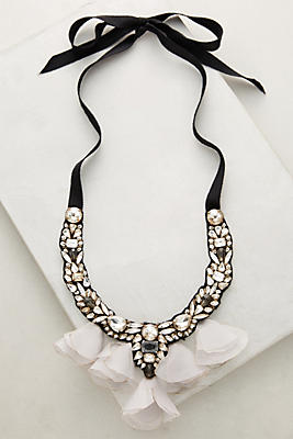 Midnight Tulle Bib Necklace