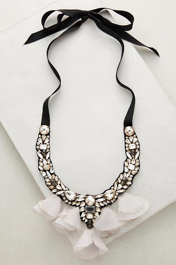 Midnight Tulle Bib Necklace