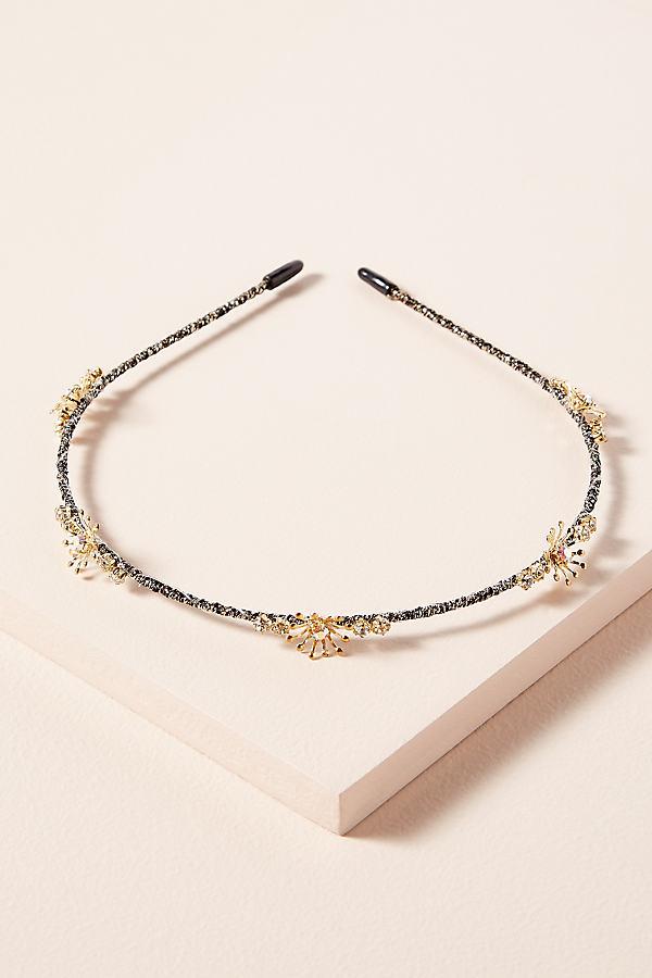 Fina Embellished Headband - Gold