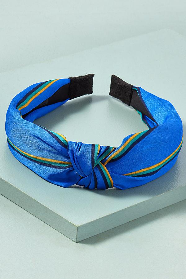 Striped Headband - Blue