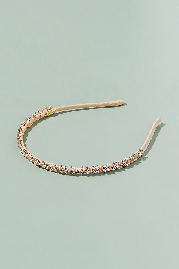 Maisa Crystal Embellished Headband - Pink