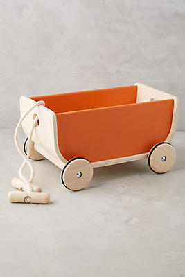 Slide View: 1: Wooden Play Wagon