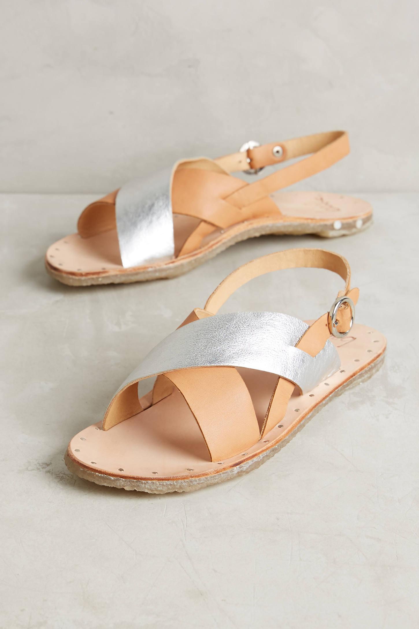 Beek Metallic Slingback Sandals