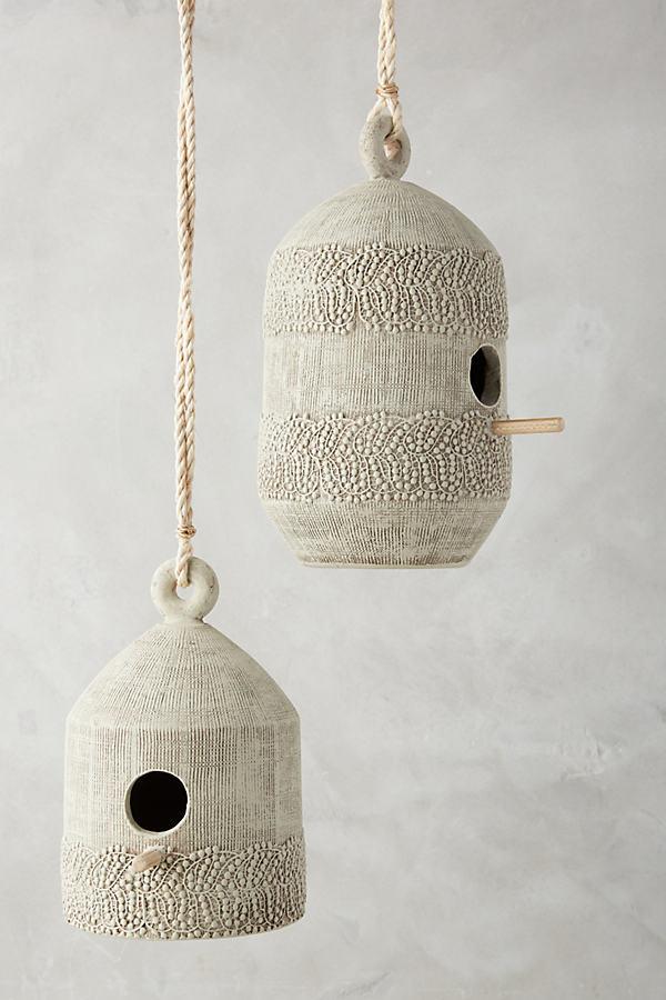 Leona Laced Birdhouse - Grey, Size M