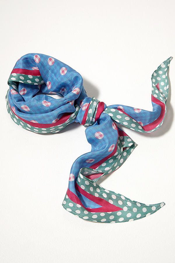Mixed-Print Silk Scarf - Assorted