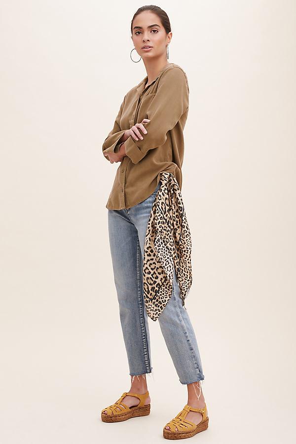 Elena Leopard-Print Silk Scarf - Assorted