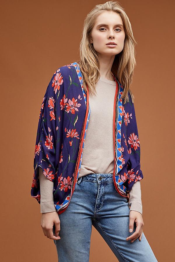 Sephora Floral-Print Kimono - Blue