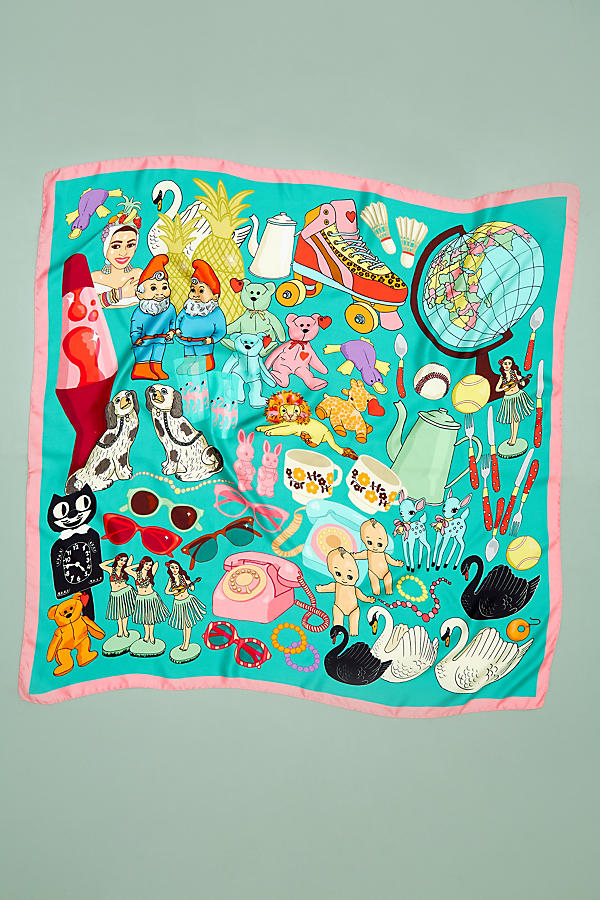 Slide View: 3: Foulard en soie Karen Mabon Wonderful World