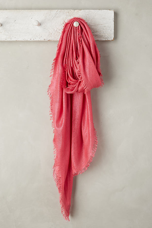 Trella Metallic Scarf - Medium Pink