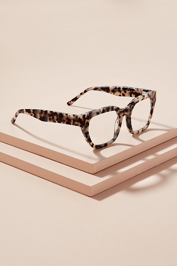 Rectangle-Frame Tortoiseshell-Effect Glasses - Assorted, Size 1.50X