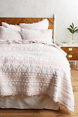Slide View: 1: Embroidered Melvyn Coverlet