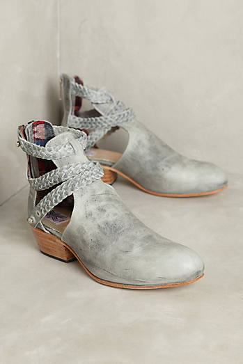 Uxibal Trenza Cutout Braided Booties