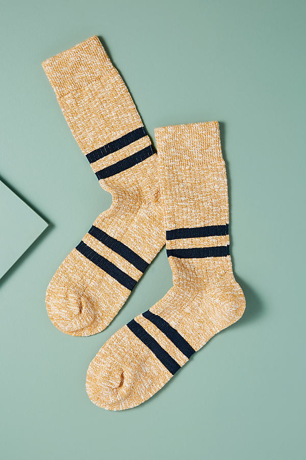 Striped Melange Socks - Gold