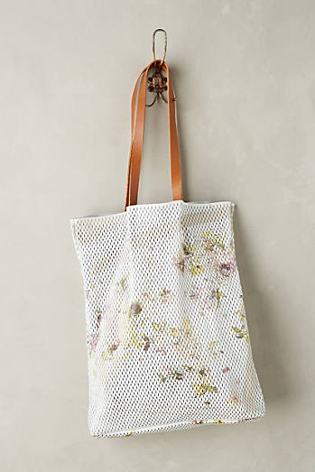 Perforated Floral Tote