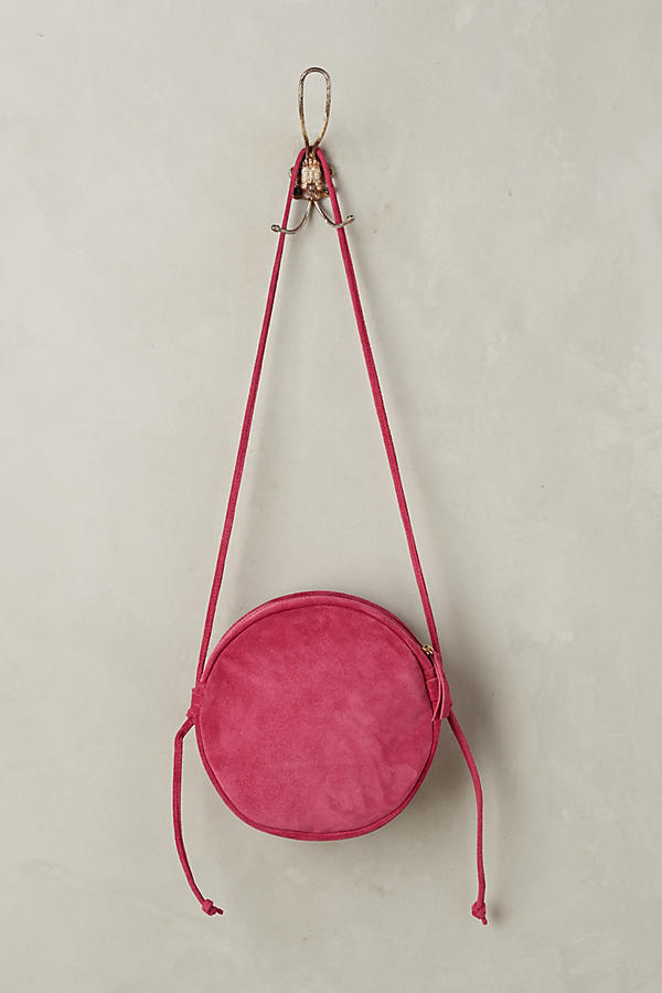 Slide View: 2: Tonal Suede Crossbody Bag