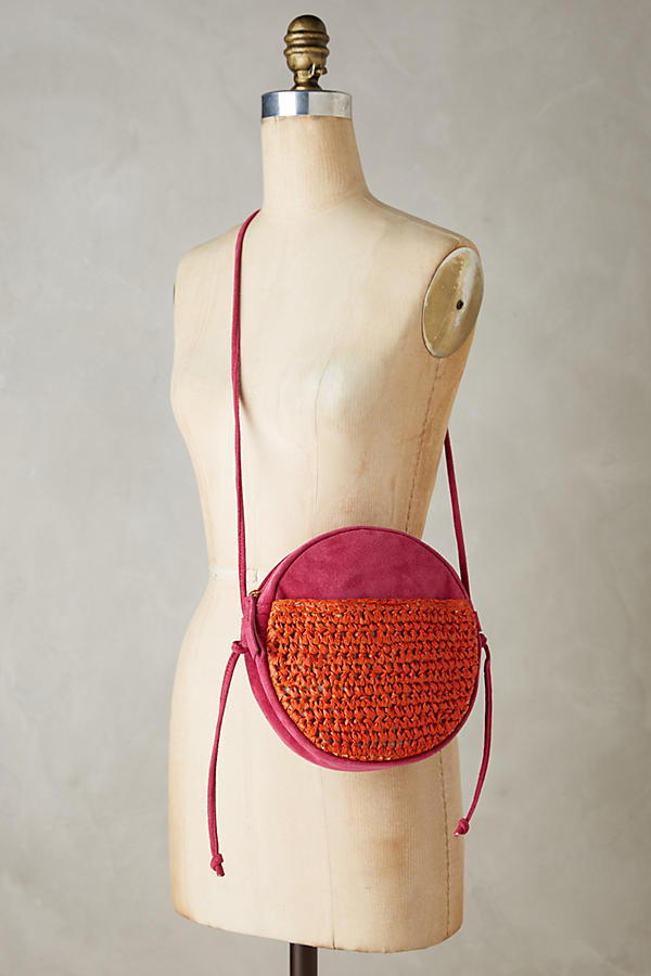 Slide View: 4: Tonal Suede Crossbody Bag