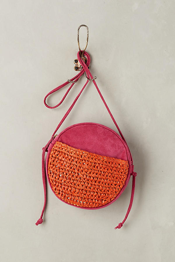 Slide View: 1: Tonal Suede Crossbody Bag