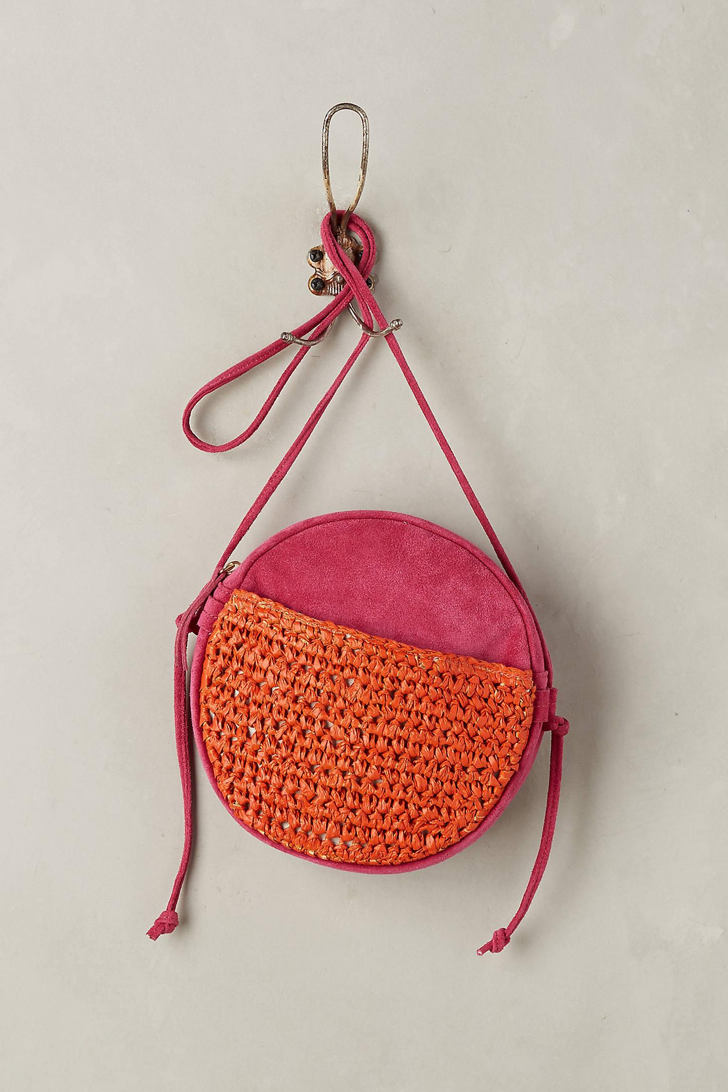 Tonal Suede Crossbody Bag
