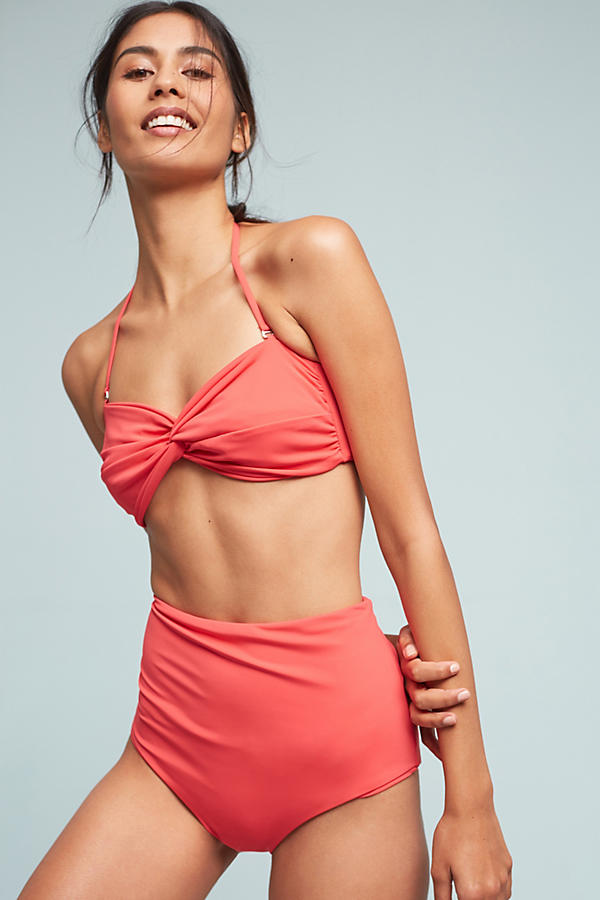 Slide View: 2: Mara Hoffman Twist-Front Convertible Bandeau Bikini Top