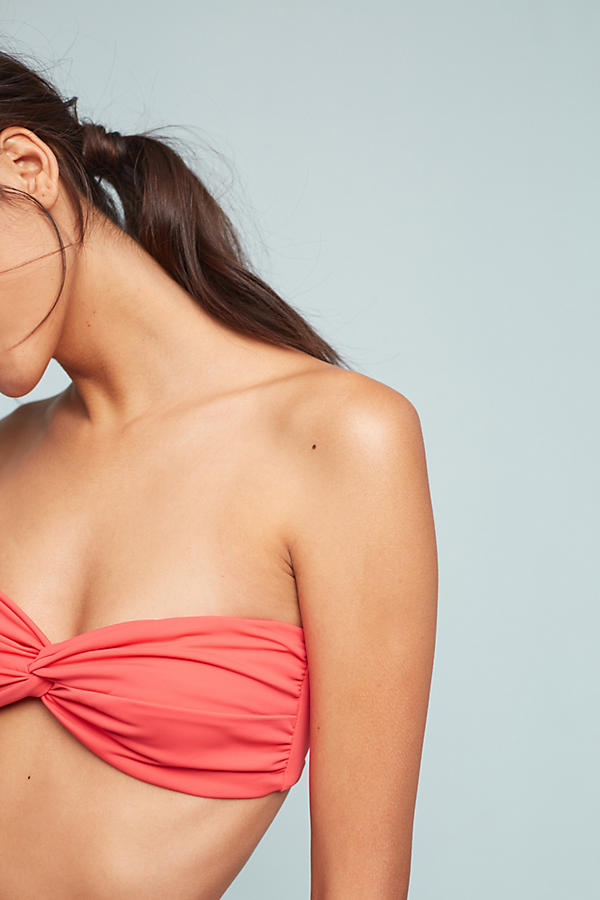 Slide View: 3: Mara Hoffman Twist-Front Convertible Bandeau Bikini Top