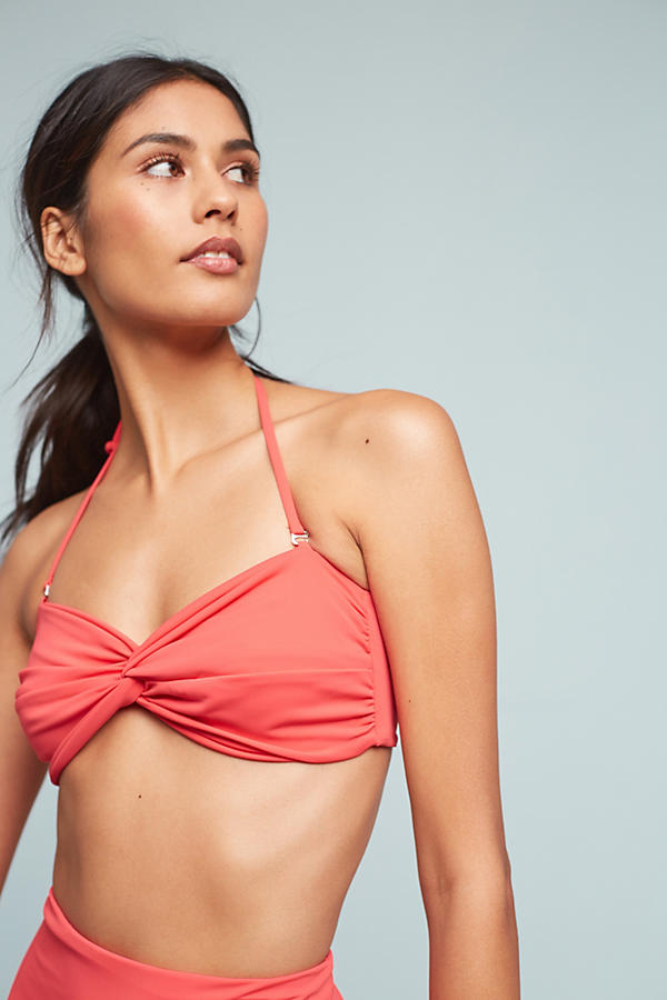 Slide View: 1: Mara Hoffman Twist-Front Convertible Bandeau Bikini Top
