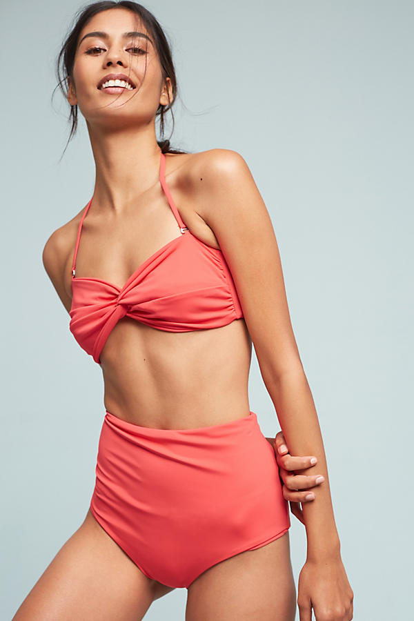 Slide View: 1: Mara Hoffman High-Waisted Bikini Bottoms