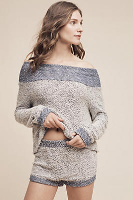 Terry Off-The-Shoulder Top
