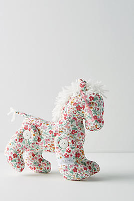 Slide View: 1: Floral Unicorn Doll