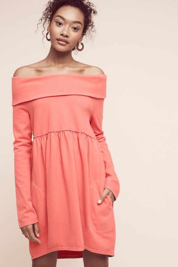 Saturday/Sunday Off-The-Shoulder Cocoon Dress