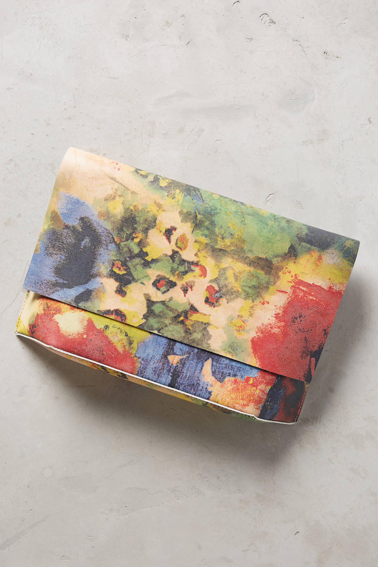 Watercolor Rose Clutch