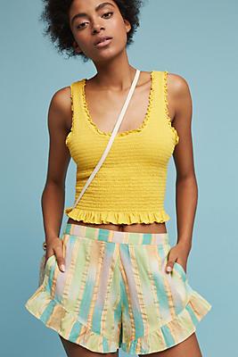 Slide View: 1: Pastel Yarn-Dyed Shorts
