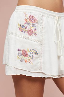 Slide View: 2: Rosalina Embroidered Sleep Shorts