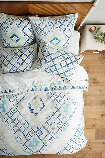 Quercus & Co. Emblem-Printed Duvet Cover