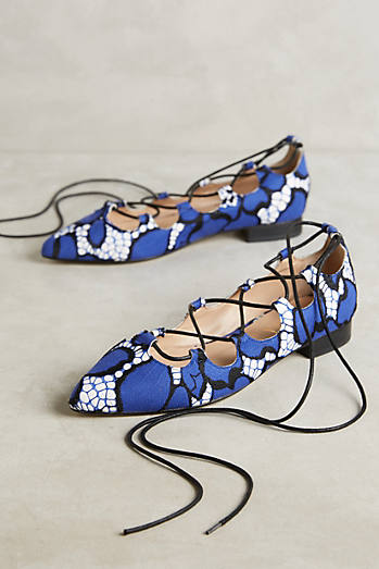 Billy Ella Ghillie Printed Flats