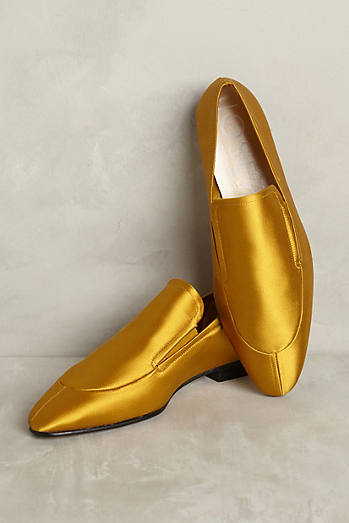 Joseph Mustard Satin Loafers