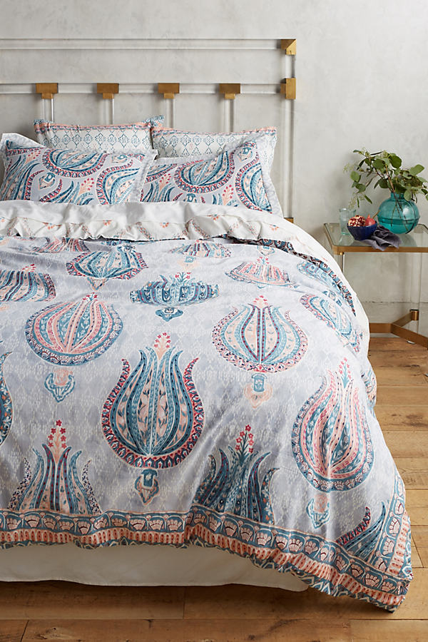 Fortuna Square Pillowcase - Turquoise, Size Squar Sham